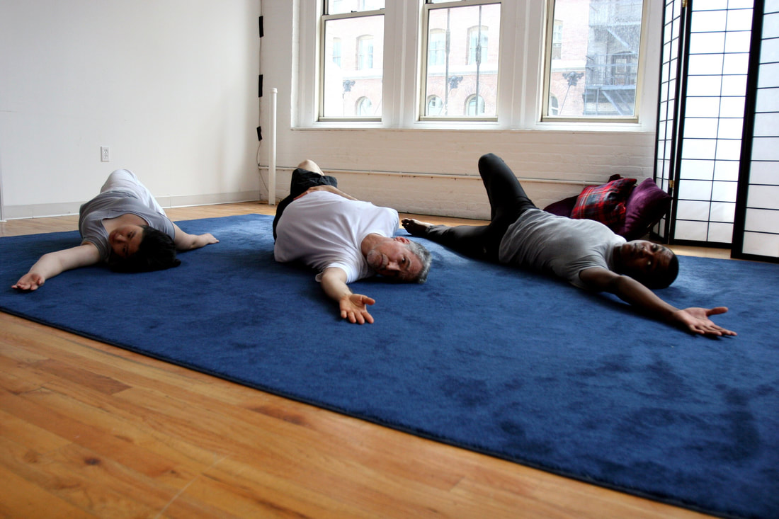 Students in a Feldenkrais Awareness Through Movement class.